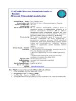 ELN5203 RF Devre ve Sistemlerin Analiz ve Tasarımı Elektronik