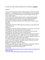 Güncel Duyuru (30.06.2014): Bağıl Değerlendirme Sistemi