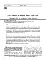 Retinoblastom Tedavisinde Güncel Yaklaşımlar