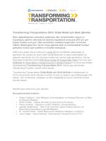 Transforming Transportation 2015: Ortak Refah için Akıllı