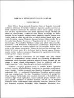 BALKAN TÜRKLERİ VE BULGARLAR