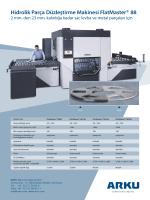 Hidrolik Parça Düzleştirme Makinesi FlatMaster® 88