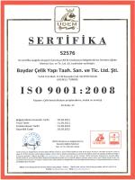 sERTİFİKA - Baydar Çelik