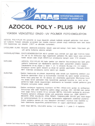AZOCOL POLY - PLUS HV