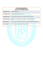 BİTLİS EREN ÜNİVERSİTESİ 2014-2015 EĞİTİM