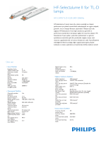 Product Leaflet: HF-S 158 TL-D II