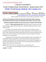 NS220: World Energy Outlook: The Coming Year