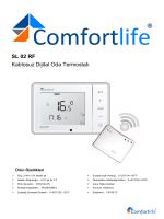 SL 02 RF Kablosuz Dijital Oda Termostatı