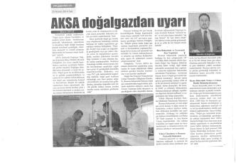 Aksa doğalgazdan uyarı (25.11.2014)
