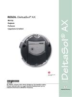 Montaj talimatları DeltaSol® AX
