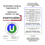 Stadtteilbüro Dulsberg kooperasyonu ile Uluslararasi Kadinlar icin