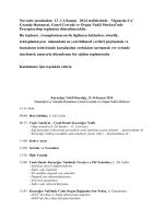 Novartis tarafından 13 -1 4 Kasım 2014 tarihlerinde Niguarda Ca