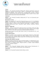 T.C. PAMUKKALE BELEDİYE BAŞKANLIĞI DİSİPLİN AMİRLERİ