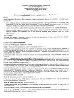 İdare Hukuku Final Sınavı Sorusu ve Seçilmiş Cevap Kağıd