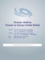 GRAMER MAKİNE GR-SS-500