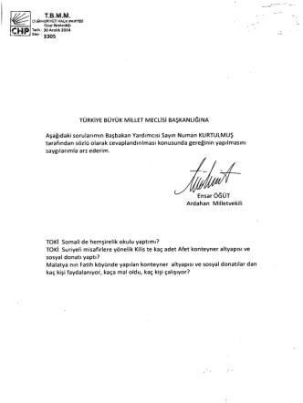 Ç Tzııııı so Aralık 2014 - Türkiye Büyük Millet Meclisi