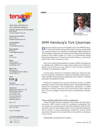 (Tersane Magazine) - Editör - Sept. - TMNS