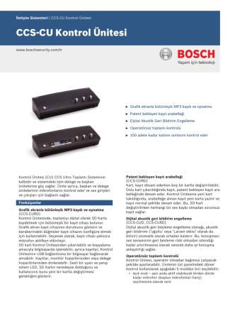 CCS‑CU Kontrol Ünitesi - Bosch Security Systems