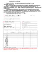 EK-2 Kümes İşletmecilerinin Dolduracakları Talep Formu (Dilekçe