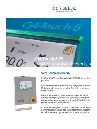 CybTouch 8 PS Senkronize Abkant Presler İçin