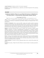 SB–008 Arabidopsis thaliana (Brassicaceae) İçin Laboratuvar