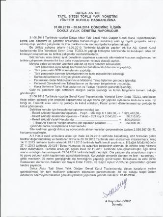 08.05.2014 2014 /5 dokuz aylık denetim raporu