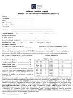 Mail Order Formu - Bilintur Catering