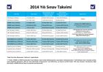 2014 Yılı Sınav Takvimi Açıklanmıştır 13-12-2013