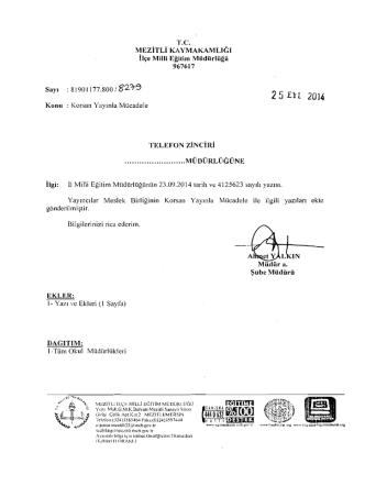 25 nı 2014 - mersin - mezitli ilçe millî eğitim müdürlüğü