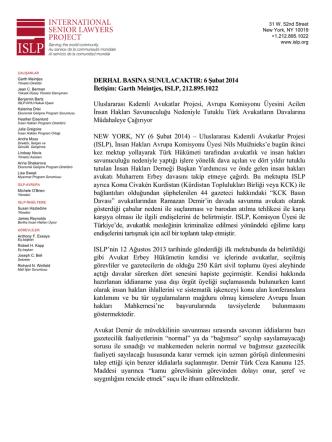 Demir Press Release FINAL Turkish (4 Feb 2014)