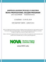 Amerikada Akademik İnceleme ve Araştırma NOVA