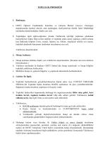 Topluluklar Prosedür - Kültür Işleri Müdürlüğü