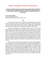 Mesleki ve Teknik Eğitim: Temel Sorunlar ve Çözüm Önerileri