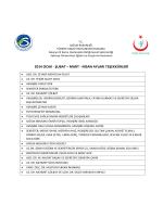 2014 ocak - şubat – mart - Sakarya Eğitim ve Araştırma Hastanesi