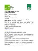 Trade name: DB BIODIESEL TSE EN 14214