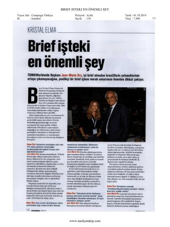 BRIEF ISTEKI EN ÖNEMLI SEY www.medyatakip.com
