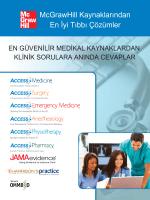 McGrawHill Kaynaklarından En İyi Tıbbı Çözümler