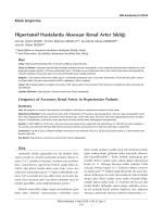 Hipertansif Hastalarda Aksesuar Renal Arter