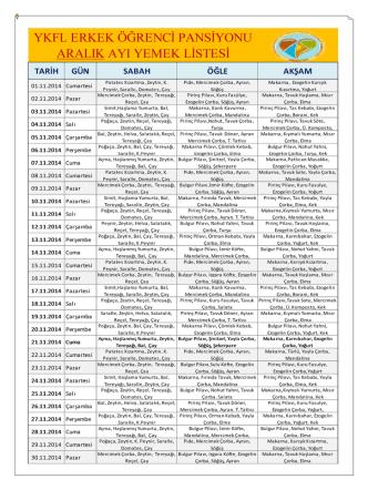 2014 kasım yemek listesi