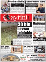 16 Ekim 2014 Perşembe - Polatlı Gazete Ayrıntı
