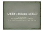 Antidot tedavisinde yenilikler Uzm.Dr.Özgür Çevrim