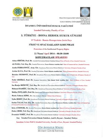11 NİSAN 2014 TÜRKİYE-BOSNA HERSEK HUKUK GÜNLERİ