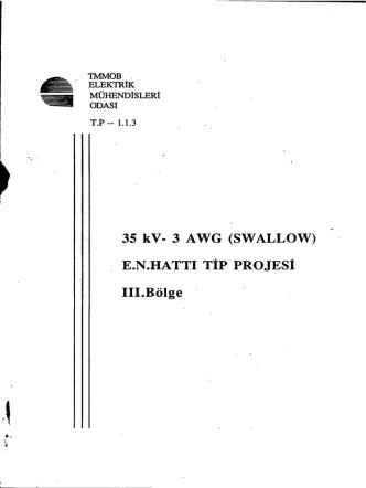 35 kV- 3 AWG (SWALLOW) Å E.N.`H.ATTI TİP PROJESİ