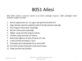 8051 Ailesi - Assist.Prof.Dr.Ersen Yılmaz
