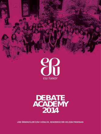 DEBATE ACADEMY 2014