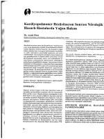 Kardiyopulmoner Resüsitasyon Sonrası Nörolojik Hasarlı