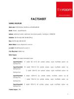 Fact Sheet - theroom.com.tr