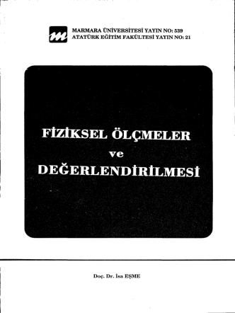 ,DEĞERLENDİRİLMESİ - Marmara Üniversitesi