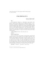TÜRK ŞİİRİNDE RÜYA - Ankara Üniversitesi Dergiler Veritabanı