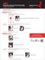 TEDx IAU Program - tedx istanbul aydin university